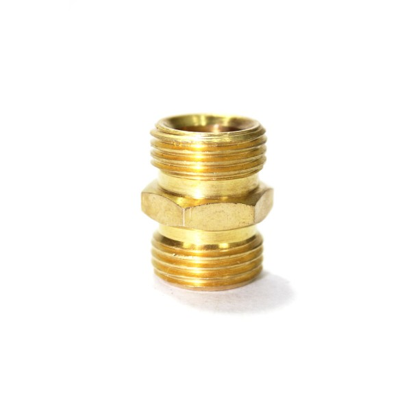 Brass double nipple hex adapter male connector compression