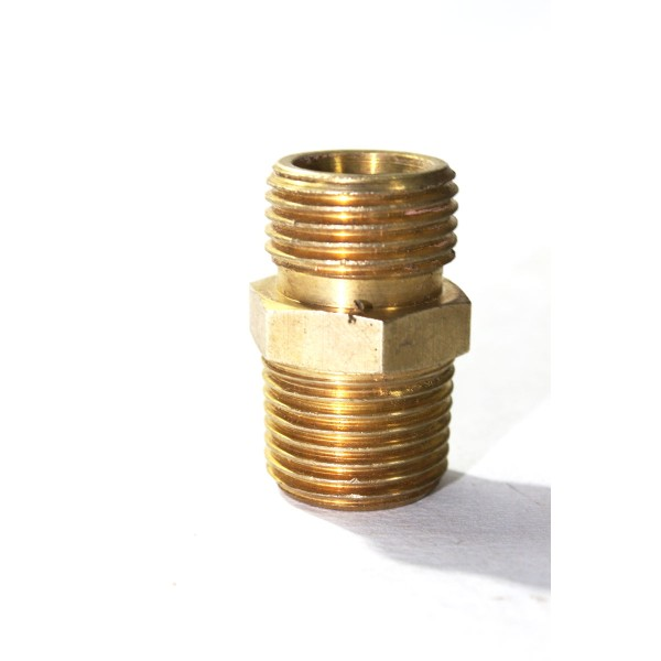 Brass npt bsp double nipple hex adapter male connector