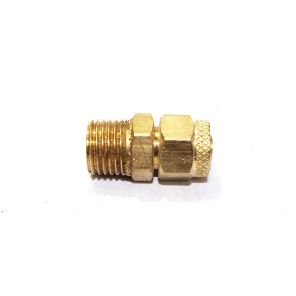 Brass pu connector male assembly