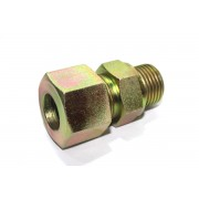MS Male Stud Couplin Parallel Hydraulic Connector Single Ferrul Type.