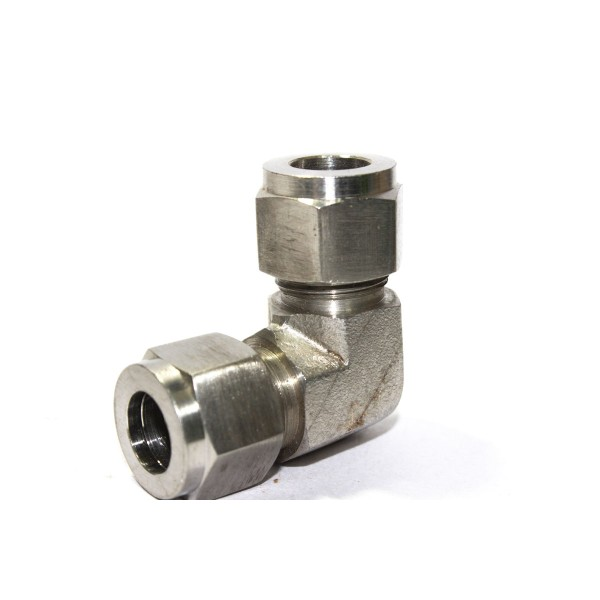 Ss elbow union equal connector compression double ferrule