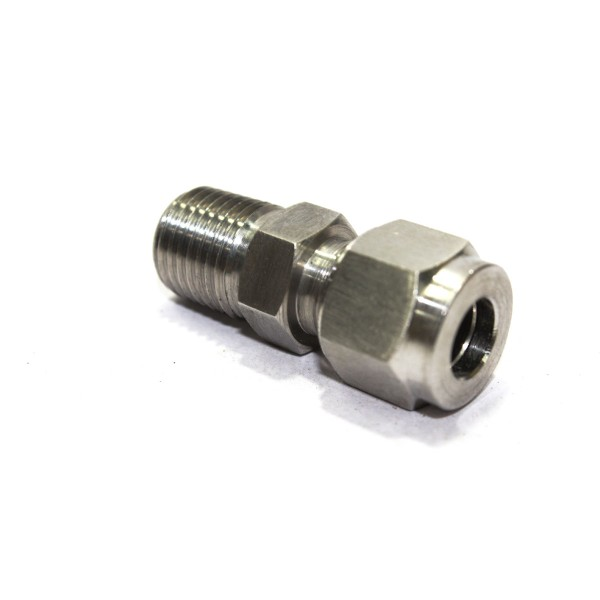 Ss male bsp connector compression double ferrule od