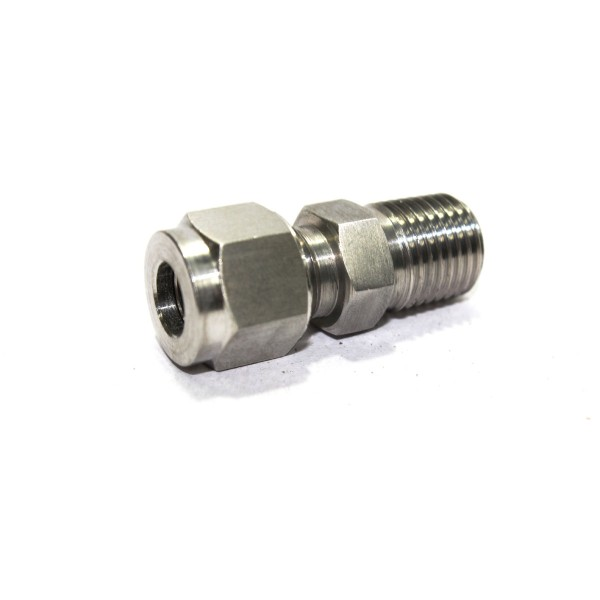 Ss male connector compression double ferule fitting