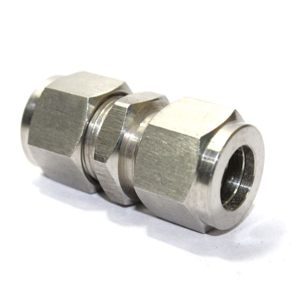 Ss union equal straight connector compression double