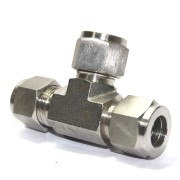 SS Tee Equal Connector Compression Double Ferrule OD Fitting Stainless Steel 304